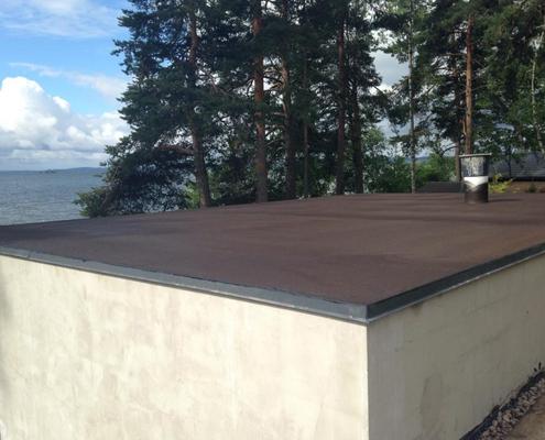 vloeibaar rubber plat dak