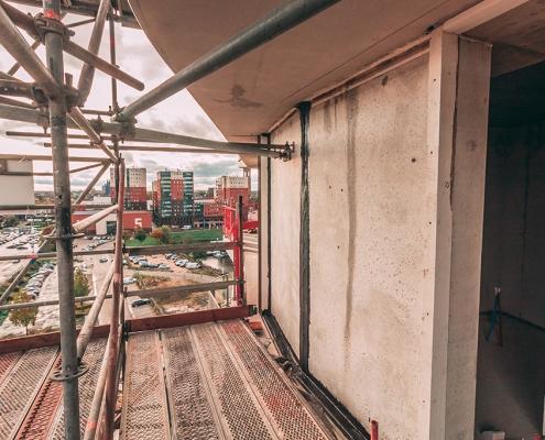 Overbrugging prefab betonelementen