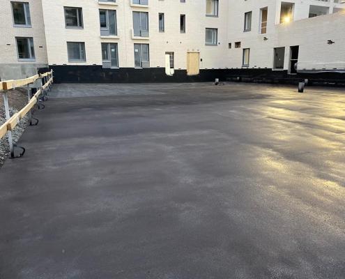 Bespoten betondek spraygrade