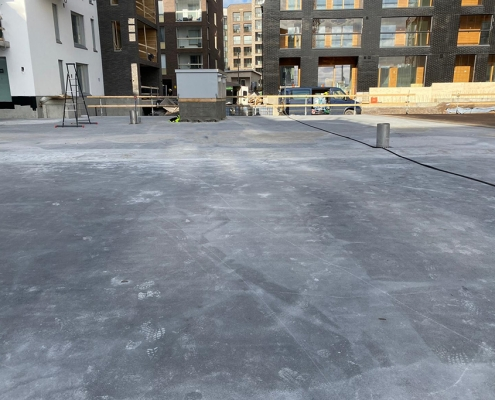 Stof en vetvrij betondek