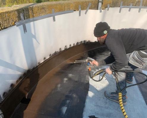 dak spuiten coating