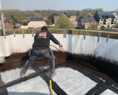 vloeibare coating dak