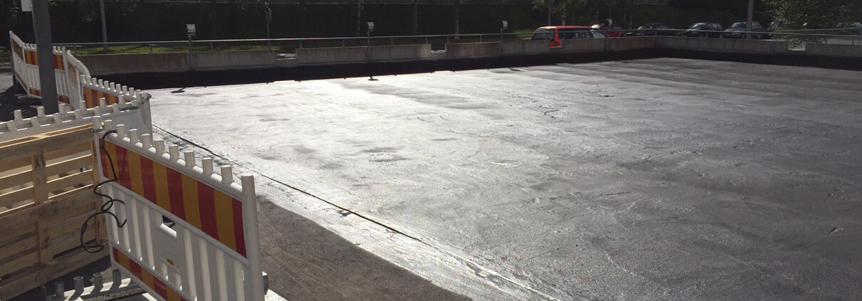 Sealing basement deck