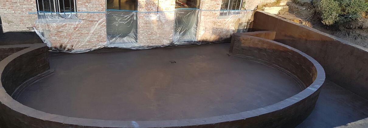 Waterproofing basement deck