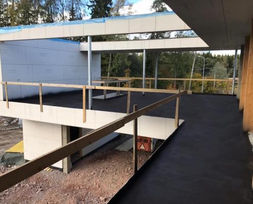 Liquid coating balcony