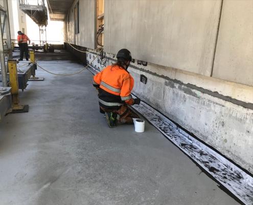 Waterpoofing coating basement