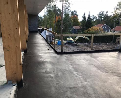 Waterproofing roofterrace