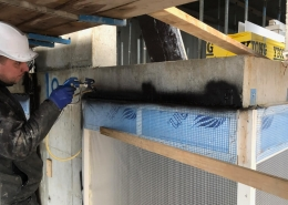 Airtight construction airless spraysystem