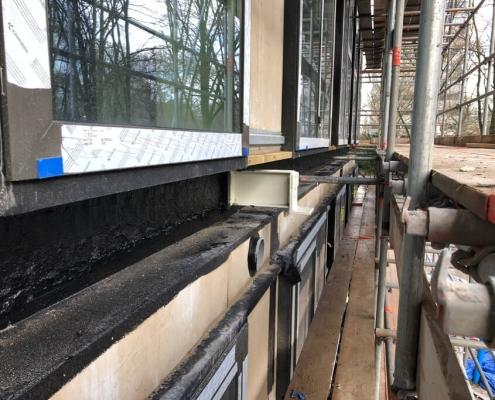 Airtight construction prefab elements