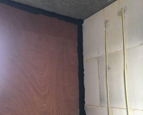 Airtight construction wall to sealing