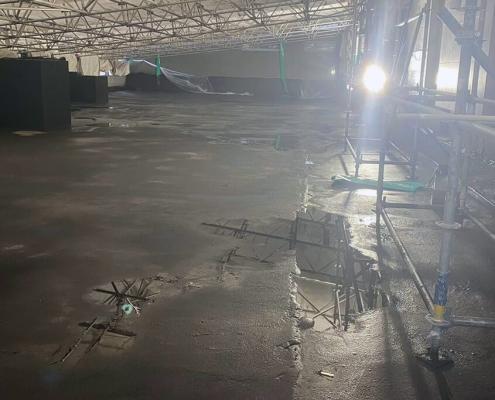 waterproof concrete parking garage
