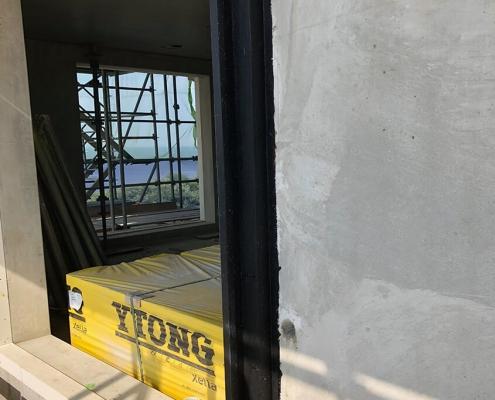 windowframe liquid air barrier