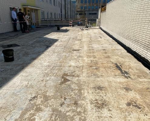 concrete deck liquid rubber waterproof