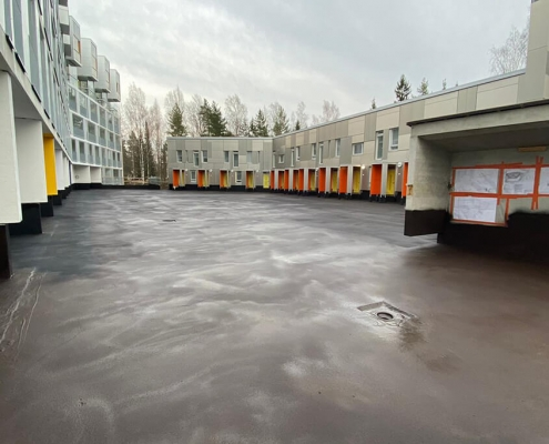 concrete deck waterproof coated